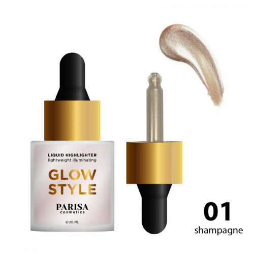 Parisa Жидкий хайлайтер для лица Glow Style