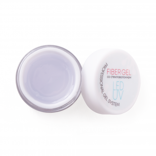 Nails Molekula Professional Гель для наращивания со стекловолокном FIBER GEL прозрачный 30г.