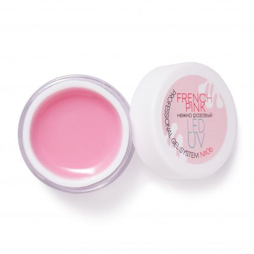 Nails Molekula Professional Гель для наращивания ногтей FRENCH PINK Нежно-розовый